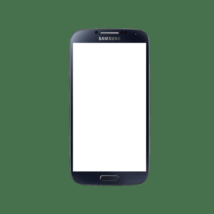 Samsung Galaxy S4 Black Mock Up